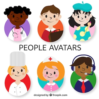 Lovely pack of children avatars