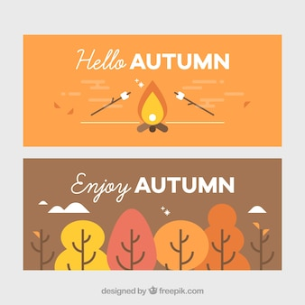 Lovely pack of flat autumnal banners