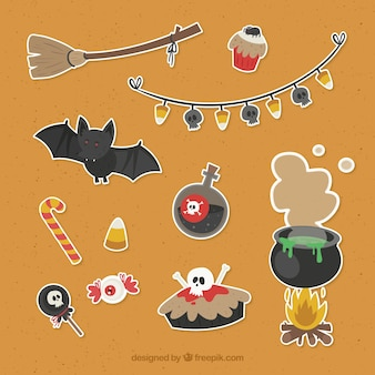 Lovely pack of halloween elements