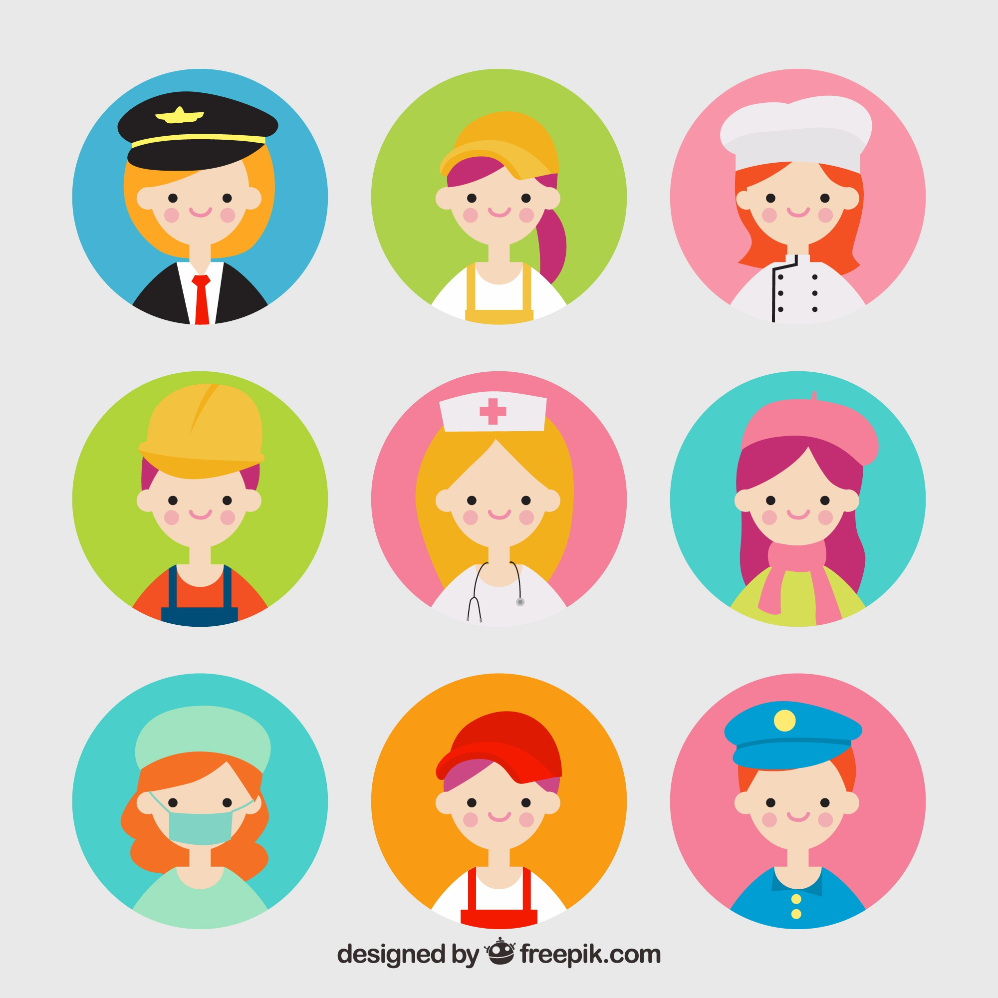 Lovely pack of jobs avatars
