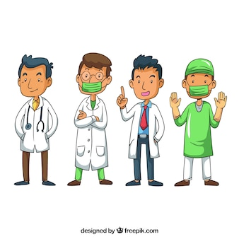 Lovely pack of professional doctors