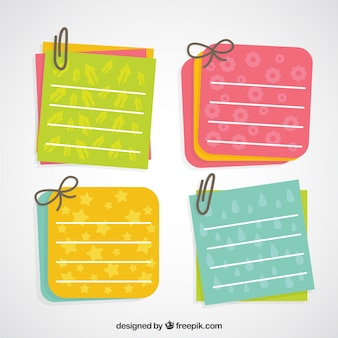 Lovely paper notes with clips