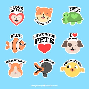 Lovely pets labels