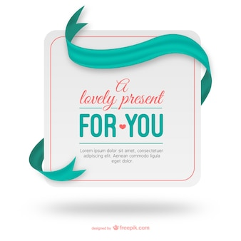 Lovely present tag template
