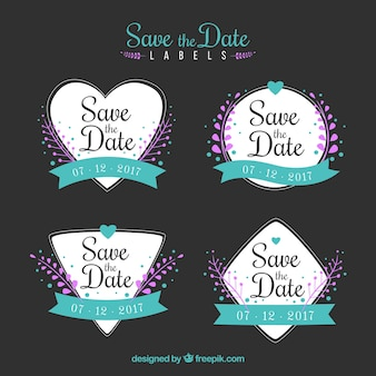 Lovely set of elegant wedding labels
