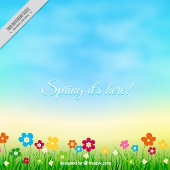 Lovely spring landscape background