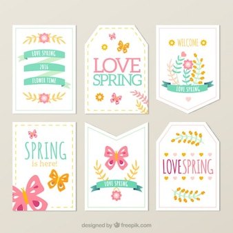 Lovely spring tag collection