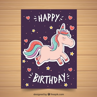 Lovely unicorn poster design