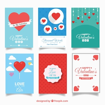 Lovely valentin day cards pack