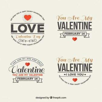 Lovely valentine badges