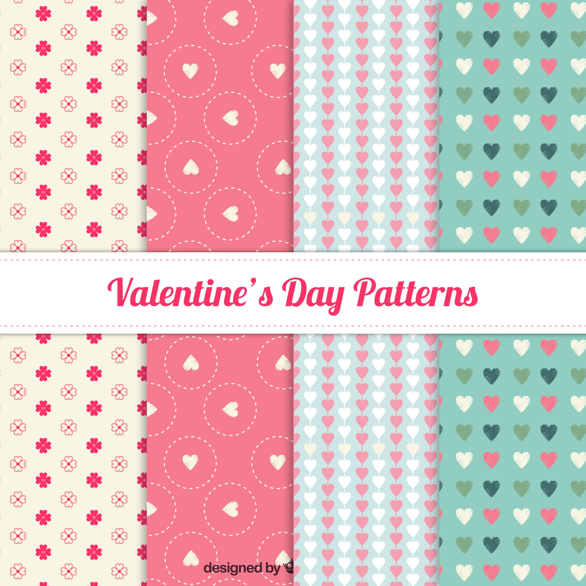 Lovely valentine day pattern collection