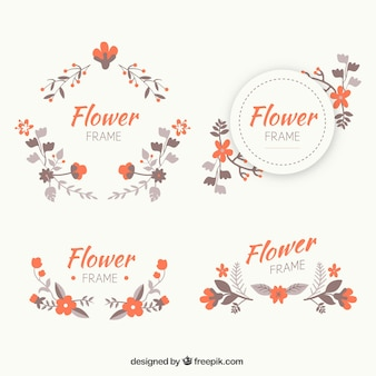 Lovely variety of flat floral frames