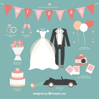 Lovely wedding infographic