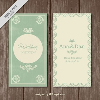 Lovely wedding invitation in vintage style