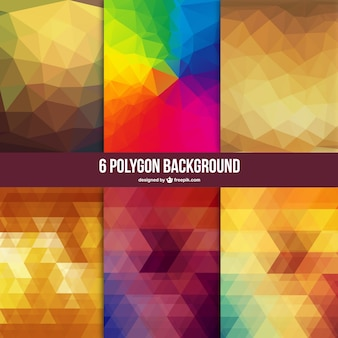 Low poly backgrounds set