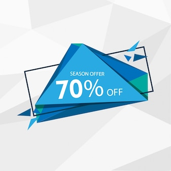 lowpoly blue offer banner template