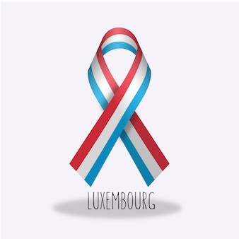 Luxembourg flag ribbon design