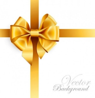Luxurious gift with gold ribbon