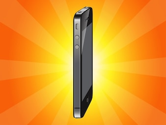 luxurious metal Apple iphone vector