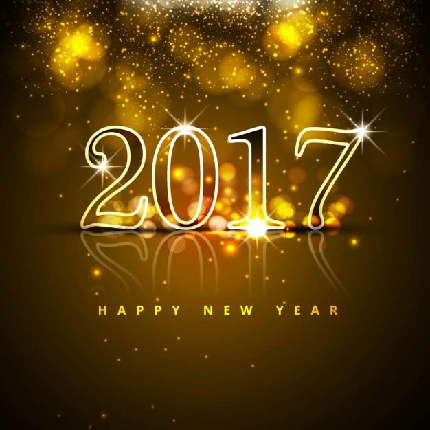 Luxurious new year background with bright numbers