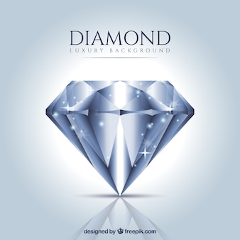 Luxury background of realistic diamond