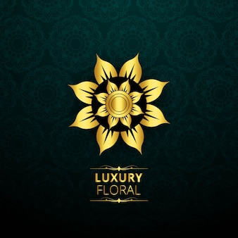Luxury background with flower