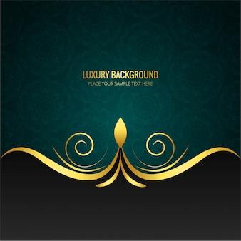 Luxury background with swirl design