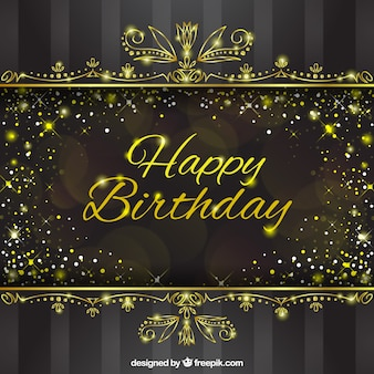 Luxury birthday background with ornamental decoration
