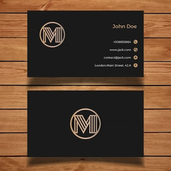 Luxury black and golden business card