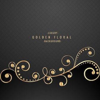 Luxury black floral background