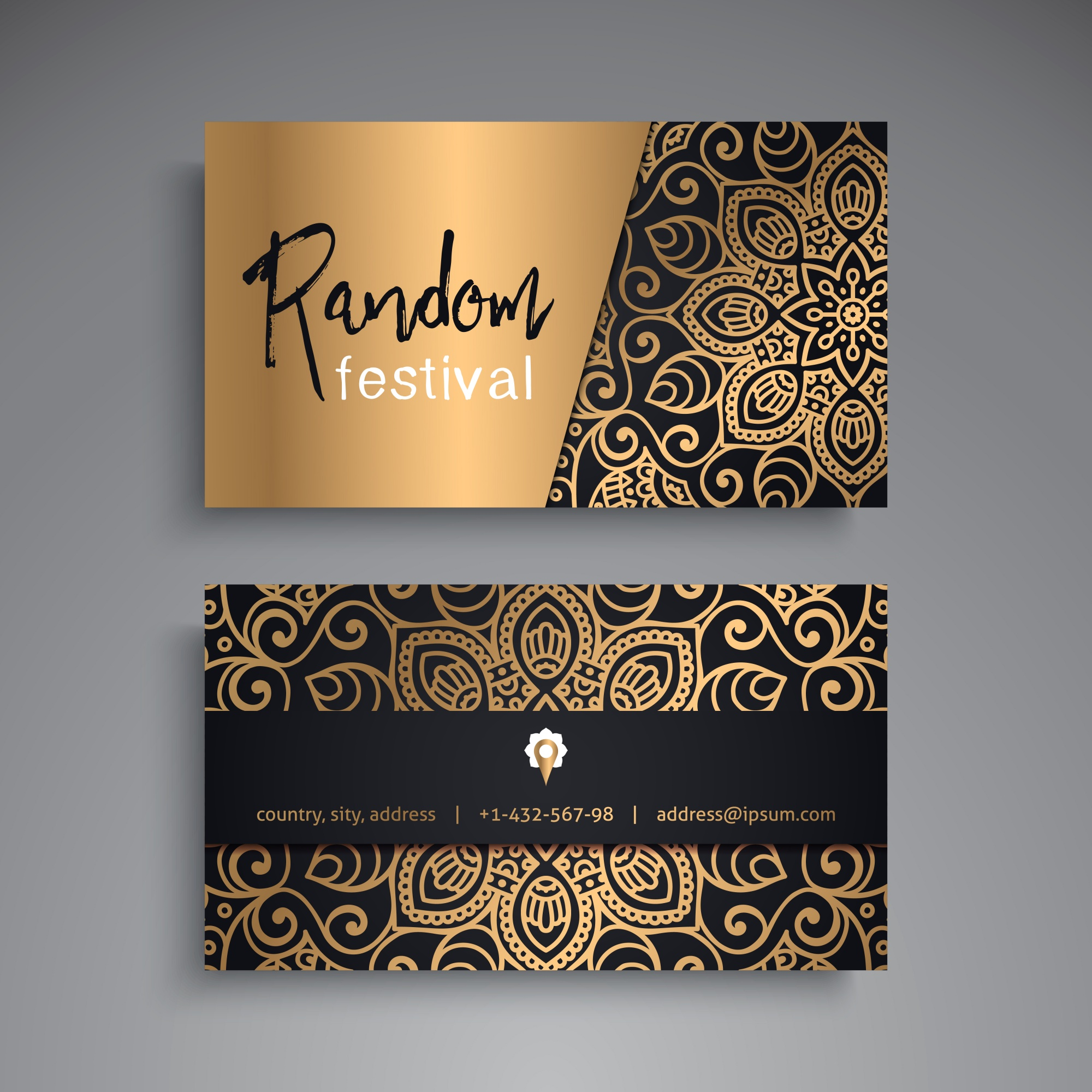 Luxury business card for festival