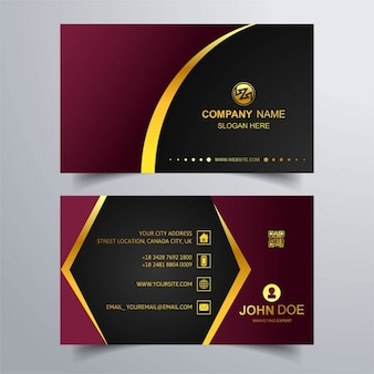 Luxury business card with gold lines