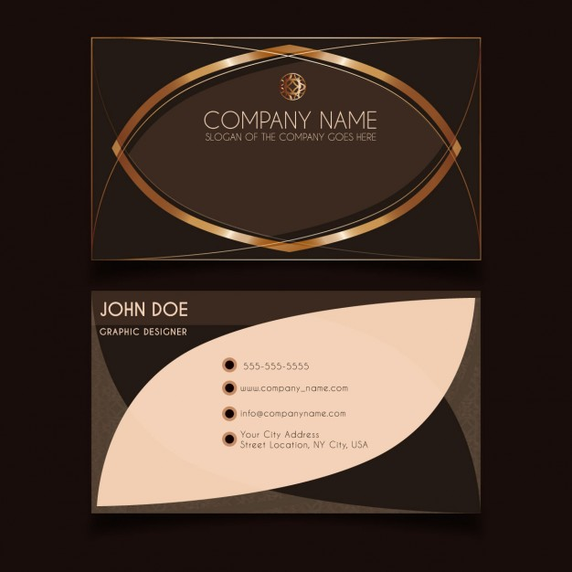 Luxury business card with golden detail