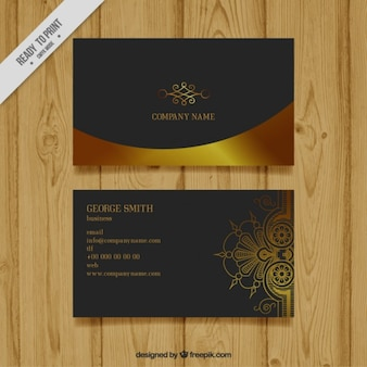 Luxury business card with ornaments
