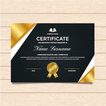 Luxury certificate template