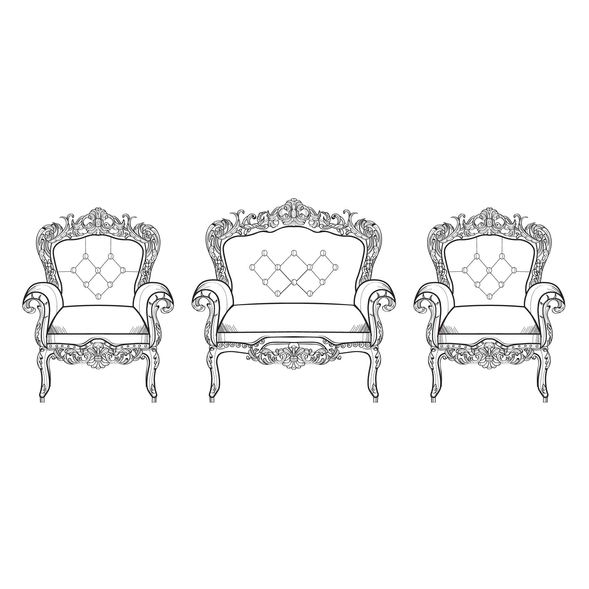 Luxury chairs collection