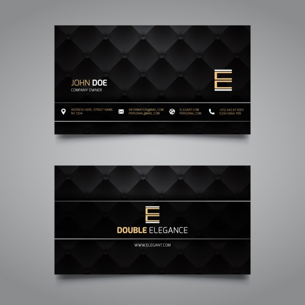 Luxury corporate card, dark color
