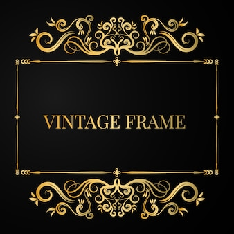 Luxury decorated frame