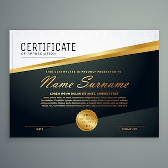 Luxury diploma design template