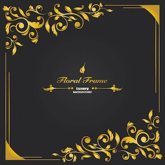 Luxury floral frame background