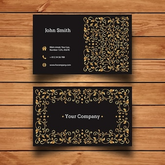 Luxury Gold Business Card Design