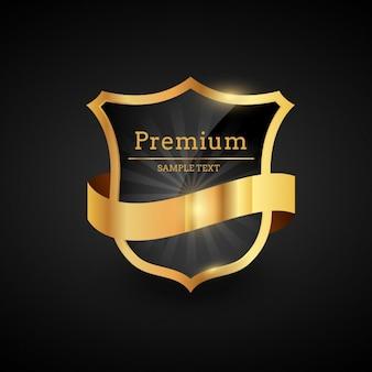 Luxury golden badge