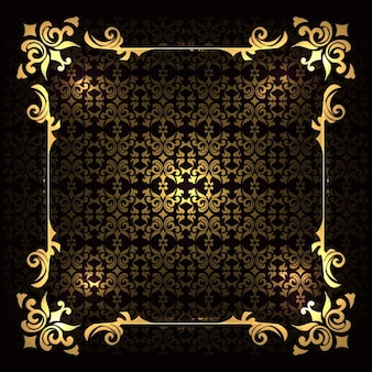 Luxury golden frame on a background with ornaments