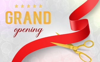 Luxury grand opening banner