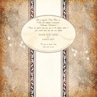 Luxury invitation frame border ornate