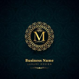 Luxury letter m logo
