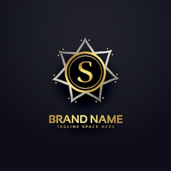 Luxury letter s logo design