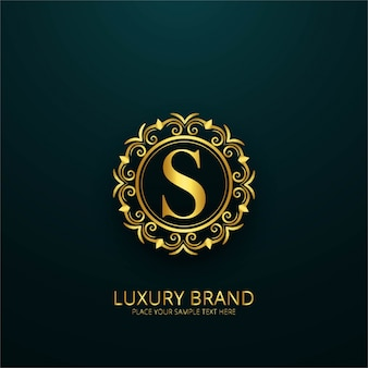 Luxury letter s logo