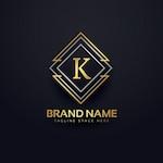 Luxury logo for letter k