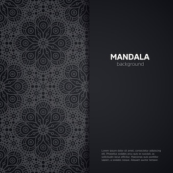 Luxury mandala illustration with space for text